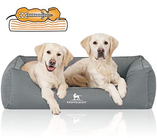 Knuffelwuff Orthopädisches Wasserabweisendes Hundebett Leon M-L 85 x 63cm Petrol