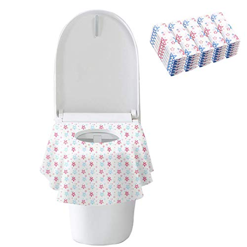 Toilet Seat Covers Disposable, 20 Pack Waterproof Potty Seat Covers, Soft and Portable Individually Packaged, for Kids Potty Training/Home Travel Public Toilet Toddlers and Adults Use