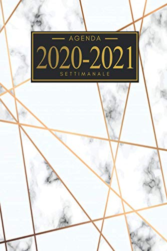 Agenda 2020 2021 settimanale: Agenda 2020 2021 | A5 | Weekly Planner 2020 2021 | Agenda 2020 2021 Giornaliera | 18 Mesi | Agenda 2020 2021 italiano | Tascabile .