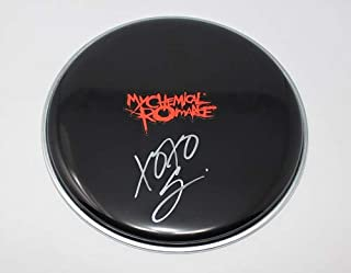 My Chemical Romance Welcome to the Black Parade Gerard Way Signed Autographed Drumhead Loa