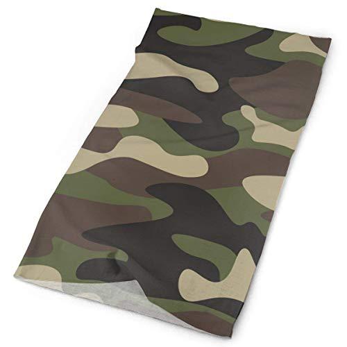 huatongxin Unisex Stylish Green Brown Camo Camouflage Quick Dry Microfiber Headwear Outdoor Magic Bandana As Polaina del cuello Head Wrap Scarf Face Ultra Soft Elastic One Size