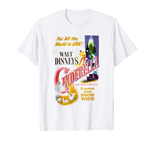 Disney Cinderella Vintage Movie Box Art Poster T-Shirt