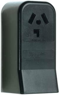 Pass & Seymour 388CC6 3 Pole 3 Wire Surface Mount Dryer Outlet, 30-Amp, 125/250-volt, Black