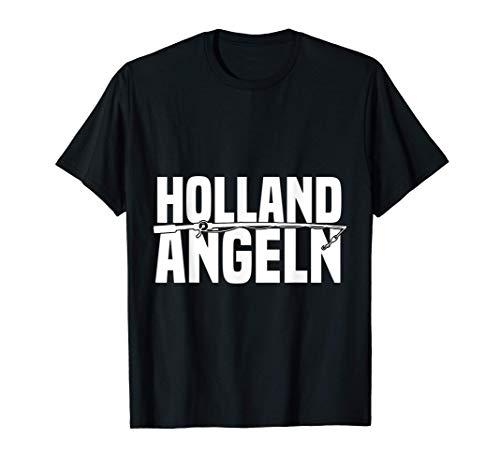 Niederlande Angeltour Holland Angeln Fischer Zelte Forelle T-Shirt