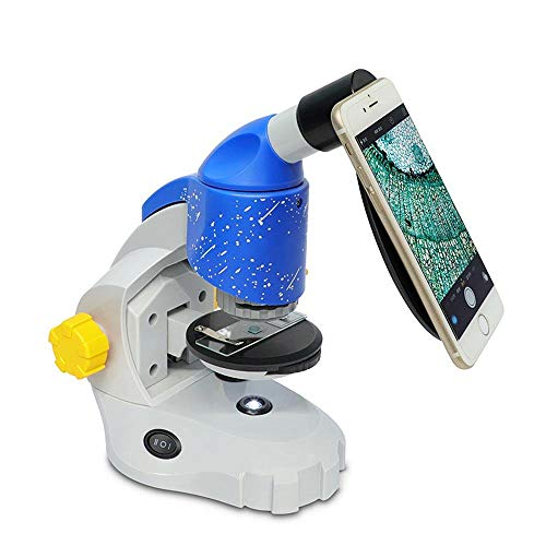 ZHLZH Microscope/Lab Microscope/Compound Microscope, 16x-160x (Continuous Zoom) Microscope Kit with Microscope, LED Light and Carrying Box