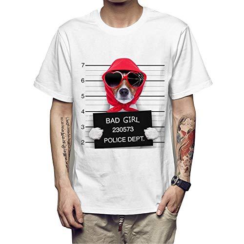 Weike Printing Bad Dog - Camiseta de impresión con texto en inglés 'Bad Dog', diseño de jefe del departamento de policía de 2020, para hombre y mujer, color rojo (talla XXL)
