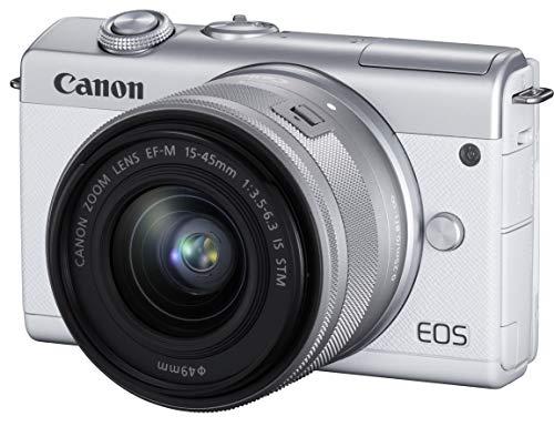 Canon ミラーレス一眼カメラ EOS M200 標準ズームキット ホワイト EOSM200WH-1545ISSTMLK