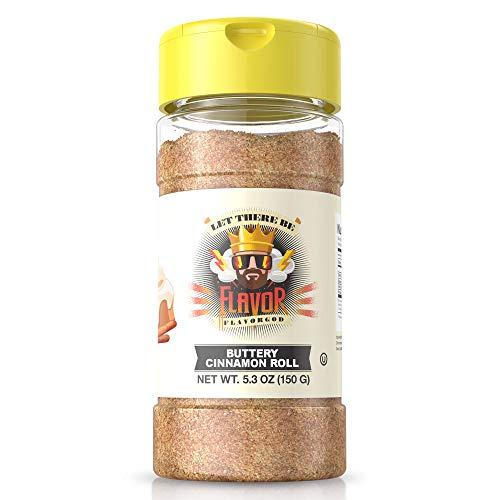 5oz. FlavorGod Buttery Cinnamon Roll Seasoning | Gluten Free, Low Sodium, Paleo, Vegan, No MSG