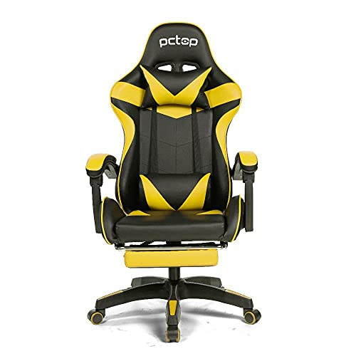 Cadeira Gamer PCTOP Racer Amarelo e Preto - 1006, Médio