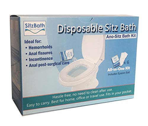 Ano- Sitz Bath Kit, Disposable Sitz Bath Soak for Hemorrhoids