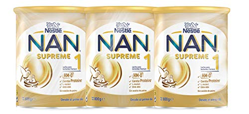 NAN - Supreme 1 Leche Para Lactantes En Polvo Premium, 3 latas x 800 g
