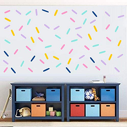 Easu Sprinkles Fabric Wall Decals Mini Bar Stickers Confetti Wall Decal Removable Peel and Stick Decals Kids Room Decor… Colorado