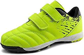 brooman Kids Comfortable Turf Soccer Shoes Athletic Football Shoes (11,Lime)