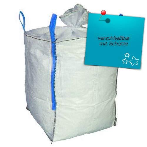 3 Stück Hochwertige BigBag 60x60x60cm mit Schürze Schüttgutbehälter Transportsack Big Bag * DIN EN ISO 21898 * Direkt beim Hersteller kaufen