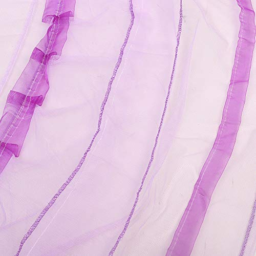 TYMX Princess Bed Canopy Mosquito Net Luxury Dome Luminous Butterfly Bed Tents Diameter 1.2M Adult Baby Kids Indoor Bedroom Anti-Mosquito Nets Fit Crib Twin Bed Large Bed (Purple)