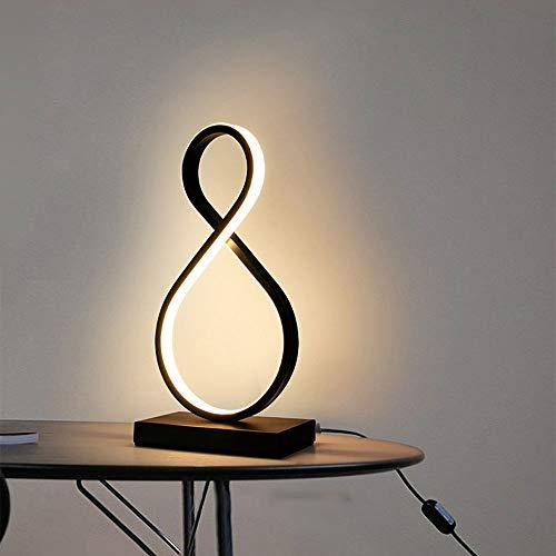 LDDEND Personnalité de ménage moderne simple LED Warm Creative Network Red Décoration - Lampe de table en métal Lampe de chevet de chambre à coucher - Ampoule E27 Facile à remplacer