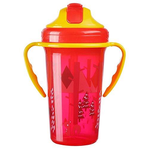 Taza de alimentación para bebés Linda de 400 ml con Botella de Leche portátil sin Pajita a Prueba de Fugas con asa Botella de Entrenamiento para niños - B, a3