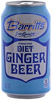 Barritt's Diet Ginger Beer Bermuda Stone - 12 oz cans - 6pk