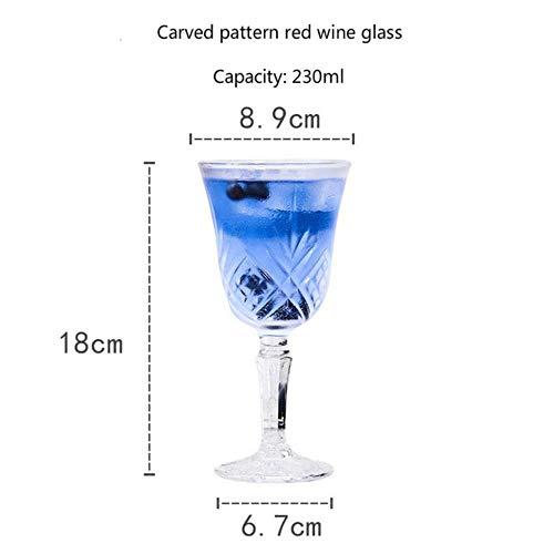 150-250Ml Diamant Graveren Goblet Wijn Glas Cup Kristal Glas Art Multi Purpose Whiskey Brandy Gift Familie Elegante Proefbeker 230 ml.