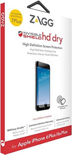 ZAGG InvisibleShield HD Dry - Protector de Pantalla (Protector de Pantalla, Apple, iPhone 7 Plus, Resistente a rayones, Transparente, 1 Pieza(s))