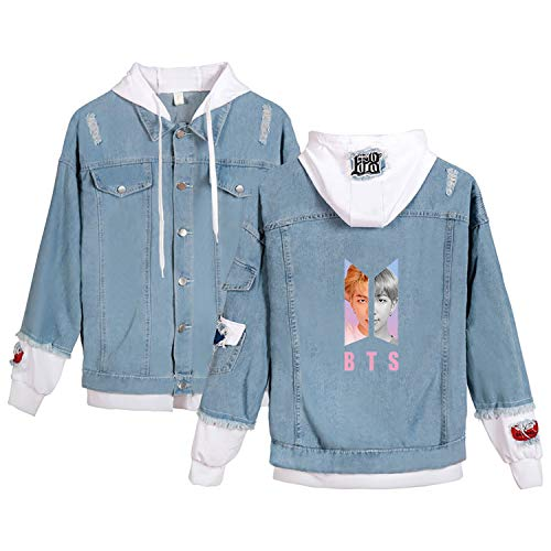 JUNG KOOK Kpop BTS Denim Jacket Love Yourself Jimin SUGA V Army Hoodie Coat Merchandise