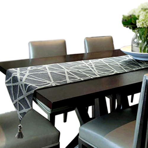 Artbisons Tischläufer Handgemachte Baumwollkünstlerische Spitzendekor-Speisetisch-Tuch-Tischläufer (152x33cm, Geometrie Tischläufer)
