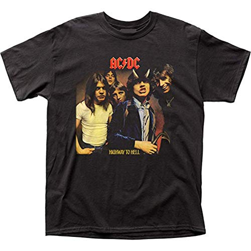 Ouyan ACDC Highway to Hell LP Cover T-Shirt Gr. M, Schwarz