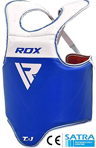 RDX TKD Körperschutz Boxen Kampfsport Körperschutzweste Kampfweste Taekwondo Reversibel Körperpanzer Bauchschutz (MEHRWEG)