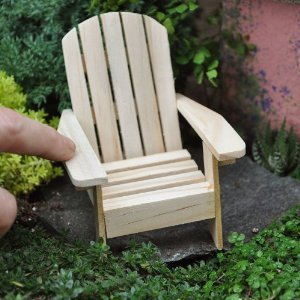 "10 Adirondack Wood Chairs Wedding Party Favors 3.5"" High"