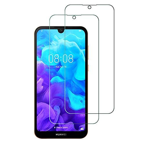 Widamin 2Pack, Panzerglas Schutzfolie für Huawei Y5 2019/Honor 8S, Bildschirmschutzfolie, Hohe Auflösung Glas, [9H Festigkeit], [Crystal Clearity], [No-Bubble] Compatible für Huawei Y5 2019