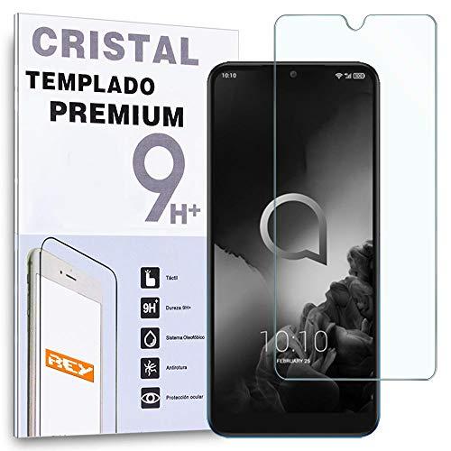 REY - Protector de Pantalla para ALCATEL 3 2019 / ALCATEL 3L 2019, Cristal Vidrio Templado Premium