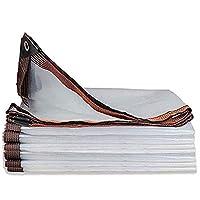 2x10、クリアターポリン防水ターポリン防塵防雪メタルホール防錆折りたたみ式ターポリン(Size:5x10M)