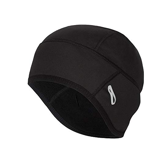 Coolchange Skull Cap Helmet Liner with Glasses Port Winter Thermal Running Beanie Cycling Cap Black