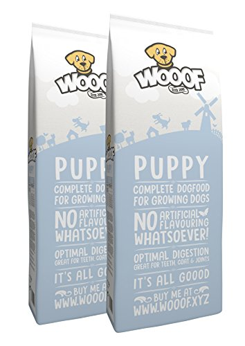 WOOOF Puppy | kaltgepresstes Hundefutter für Welpen | Trockenfutter mit Rindfleisch | 28kg | leicht verdaulich | perfekt für Jungtiere | ohne Weizengluten