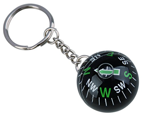 AceCamp Munkees Ball Compass Keychain, Small Useful Outdoor Tool Gift, Hiking Key Ring, Camping, Backpacking, Portable Survival Gadget, Explore, Kids Navigation Equipment, Direction, Mini