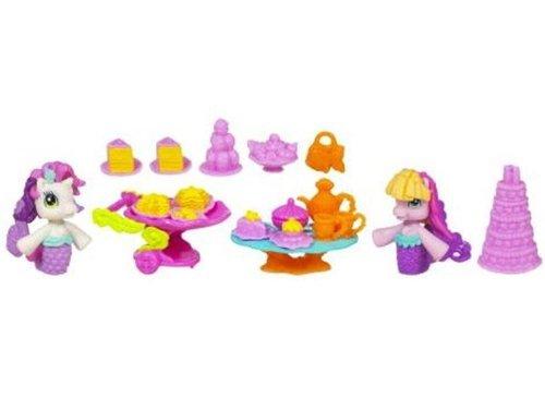 My little Pony / Mon Petit Poney - Sirenes - Teacups & Treats - Sweetie Belle & Toola-Roola - avec beaucoup d'accessoire