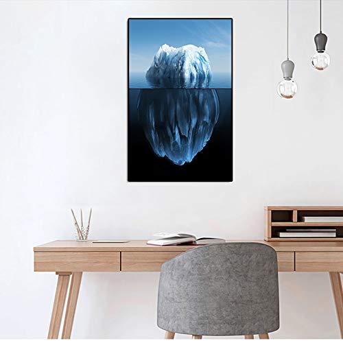 Sanzangtang ijsberg canvas poster landschap een schild aparte canvas muurkunst Scandinavische print woonkamer moderne decoratieve wand foto zonder lijst