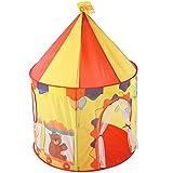 LINDANIG Zirkus Faltbare tragbare Spielzelt für Kinder Kleinkind Indoor Outdoor Spielhaus (Farbe :...