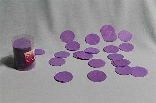 Confettis de scène en forme de ronds parme 100 grammes papier de soie [pa09505parme]