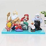 Anime Model Statue 6Pcs / Set Hot Movie Mermaid Figure The Little Mermaid Characters Mega Figure PVC Model Toys 3-7Cm Anime Gifts Toys Model Kits