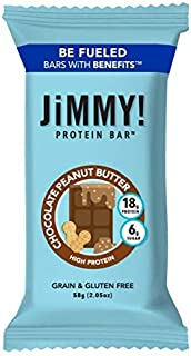 JIMMY! Chocolate Peanut Butter High Protein Bars - Low Sugar Energy Bars with Peanut Butter Chocolate   Chocolate Peanut B...
