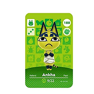 No.188 Ankha Animal Crossing Villager Cards Series 2. Bank Card Size. Third Party NFC Card. Water Resistant. Wearable and Durable