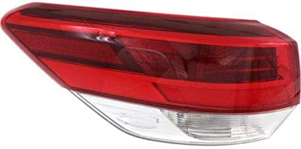 Go-Parts - OE Replacement for 2017 Toyota Highlander Tail Light Rear Lamp Assembly Replacement - Left (Driver) 81560-0E160 TO2804132 Replacement For Toyota Highlander