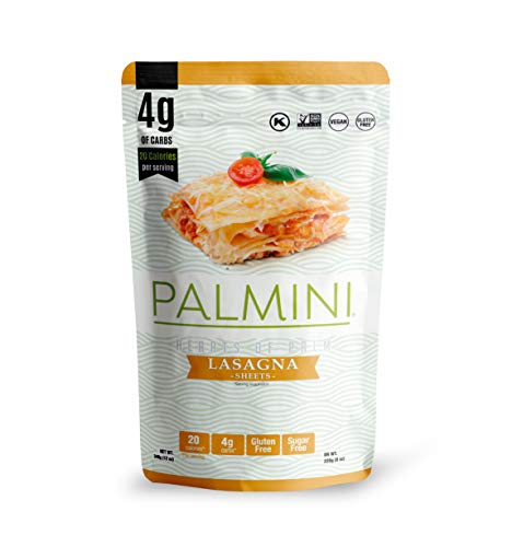 Palmini Low Carb Lasagna | 4g of Carbs | As Seen On Shark Tank | Hearts of Palm Pasta (12 Ounce - Pack of 1)