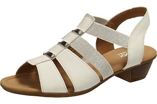 Gabor Shoes Damen Comfort Sport Riemchensandalen, Weiß (Weiss 50), 39 EU