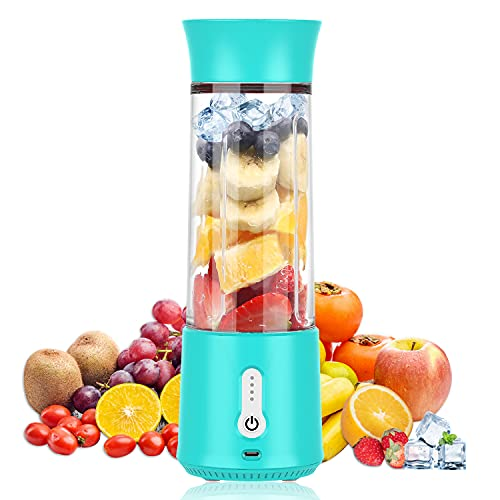 2021 Portable Battery Blender For Shakes And Smoothies, 16 oz Single Serve For Blenders & Juicers , Mini Blender With Six Blades,Mini Blender for Sports, Office, Travel, Gym, and Outdoors