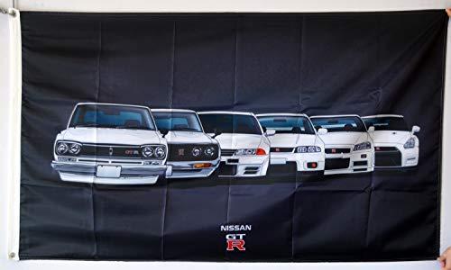 Dimike Nissan GTR Flag Banner 3X5FT Man Cave