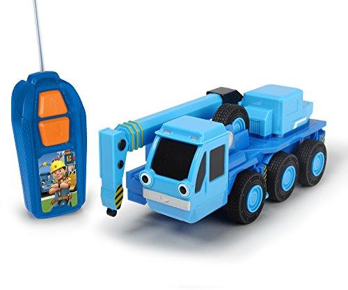 Dickie Toys 203134005 Bob der Baumeister Heppo RC-Fahrzeug, Auto, Ferngesteuerter Kranwagen, Blau/Grau, 20 cm