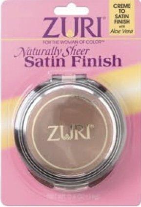 Zuri Naturally Sheer Satin Finish Pressed Powder - Suede