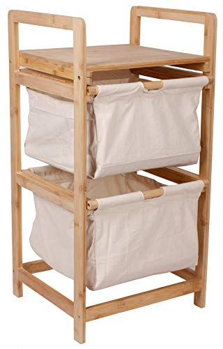 Selltex wasverzamelaar, bamboe, wasmand, linnen, badkamerkastje, badkamer, wasgoed